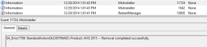 AVG Removal Completed Successfully